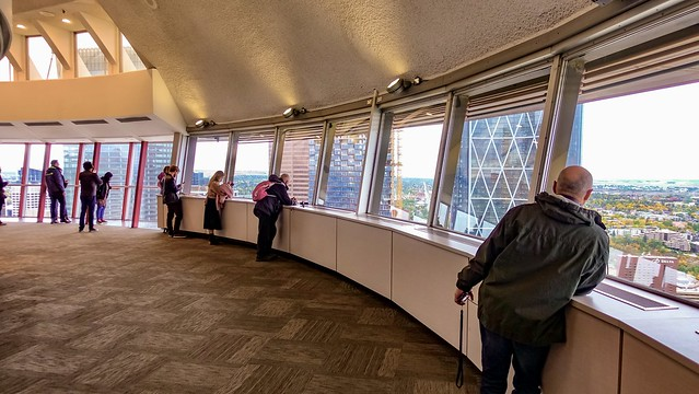 Observation deck inside Calgary Tower.