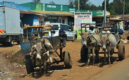 traffic village kitale desktop people kenya cart roadscape featured