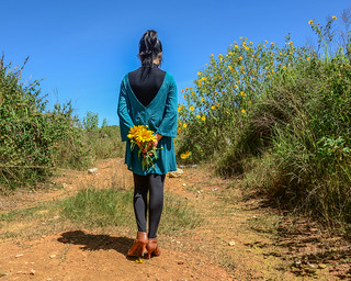 A woman walking on the hill | by phuong.sg@gmail.com
