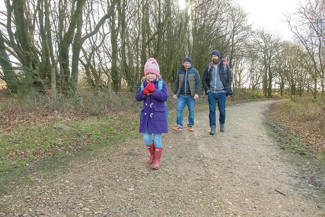 Family walk in the woods - DSCF5963