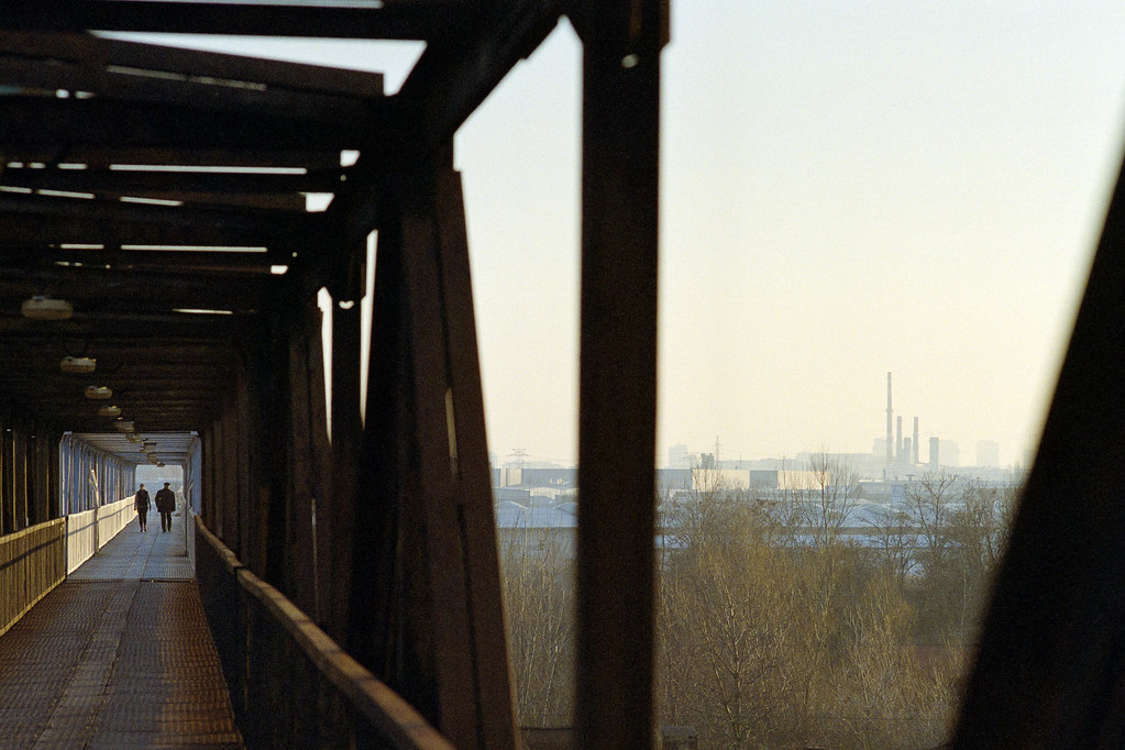 Iron bridge to the factory