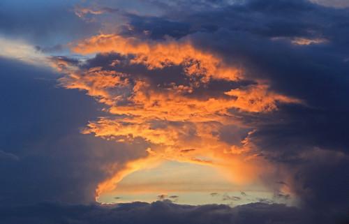 wolken sonnenuntergang leer