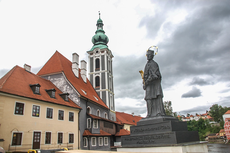 St. Jost Church & Statue of Saint John Nepomuk( From Lazebnicky bridge)