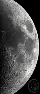 39.4% Waxing Crescent Moon - 38 Panel Mosaic Crop [2019.04.11]