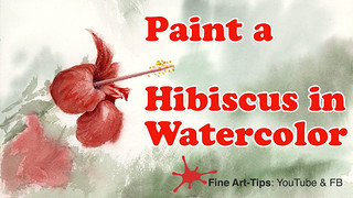 How to Paint a Red Hibiscus in Watercolor | by fineart-tips