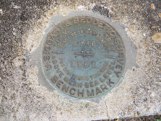 USCGS Bench Mark M346 Evergreen AL