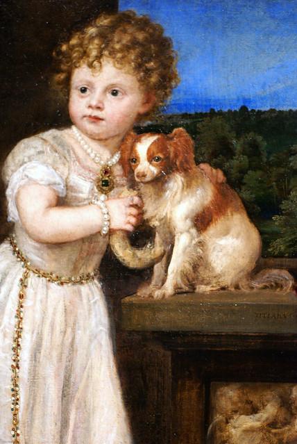 Tizian/Titian/Tiziano, Clarissa Strozzi im Alter von zwei Jahren - Clarissa Strozzi at the age of two - Clarissa Strozzi a due anni