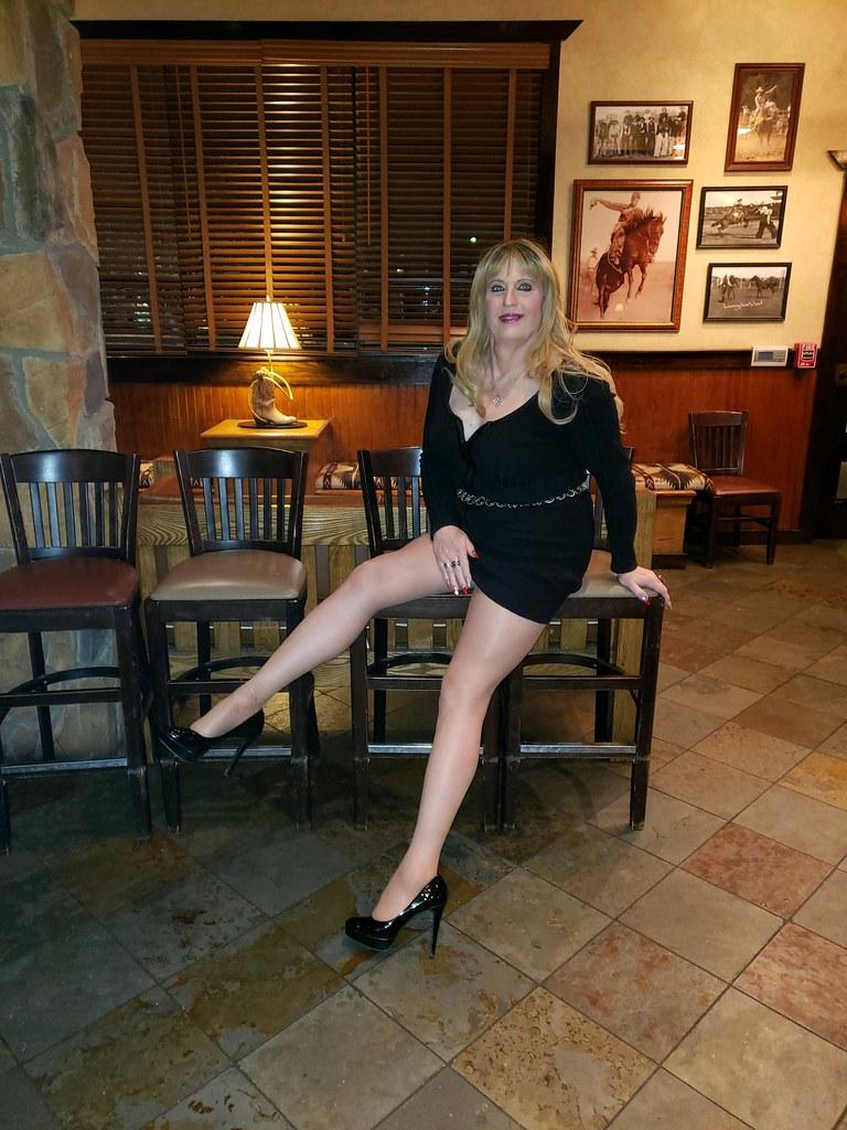 High heels long legs