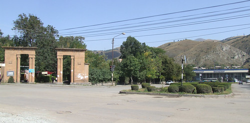Gate of Town Park and Vanadzor railway station, 01.09.2013. | by Dāvis Kļaviņš