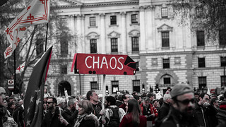 Banner On The March: Chaos [On The Side Of A Red Bus] | by Stuart Herbert