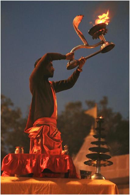 India Travel Photography: Aarti Ceremony, Nada Sadhus & burning Ghats at Varanasi 2019 Benares.002 by Hans Hendriksen