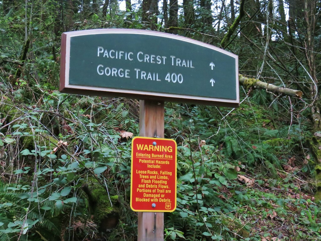 Pacific Crest Trail sign in Cascade Locks