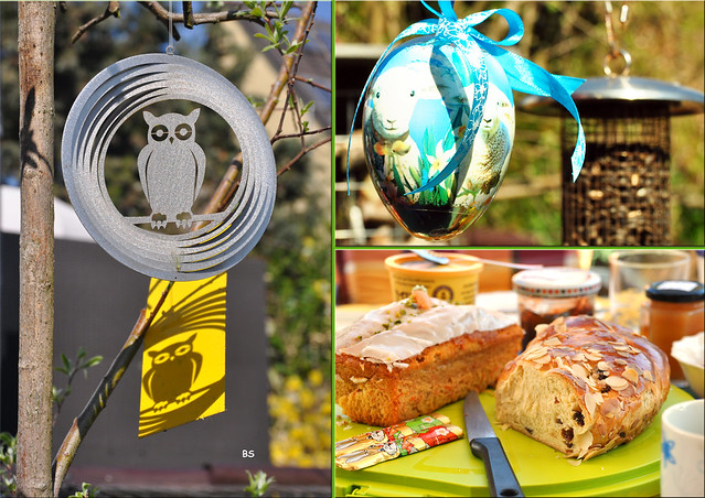 Ende März 2019: Frühstück bei H&M --- Mariannes wild-romantischer Garten in Ludwigshafen ... Fotos und Collagen: Brigitte Stolle