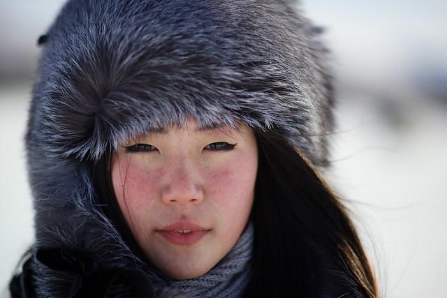 Even girl, Topolinoe village, Verkhoyansk mountains, Yakutia, Siberia, Russia - Version 2
