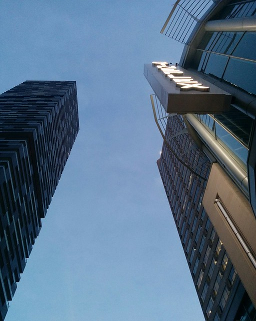 Evening looking up #toronto #yongeandeglinton #yongestreet #evening #skyline #blue #twilight #towers