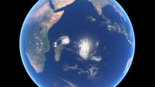 Tropical Cyclones Gelena and Funani | by EUMETSAT