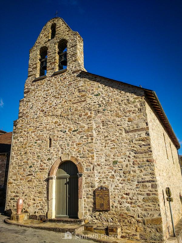 Fachada de Sainte-Marie de Lordat