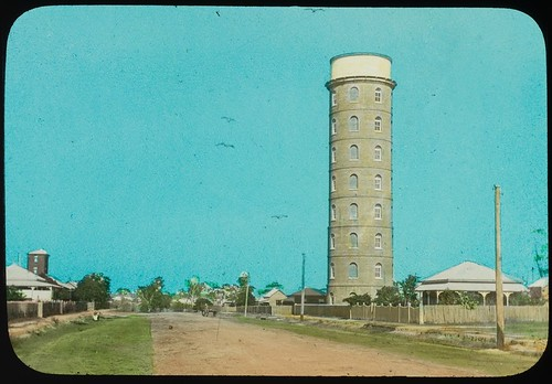 East Bundaberg water tower, Bundaberg, Queensland, ca. 1910
