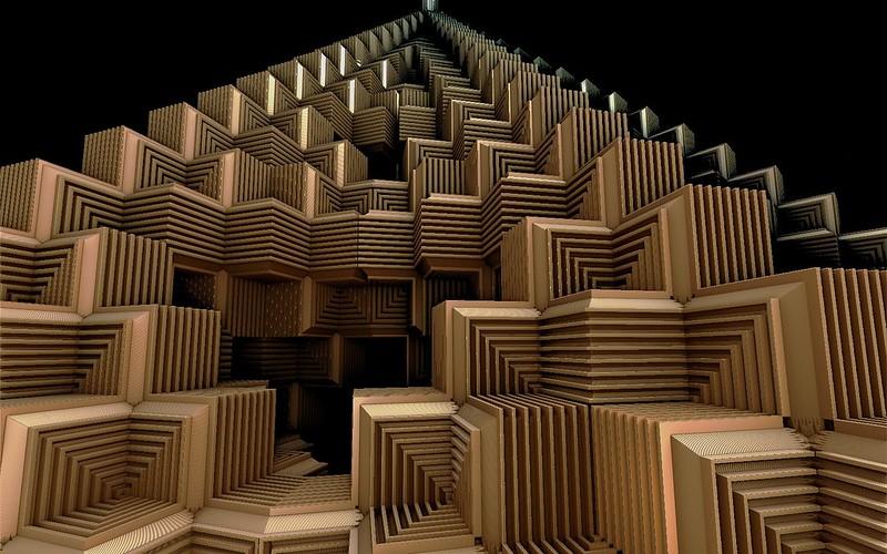 Обои лестница, креатив, идеи, куб, множество, деревянный картинки на рабочий стол, фото скачать бесплатно