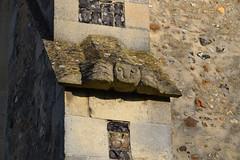 cherubic graffito on a buttress