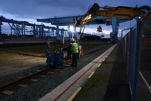 Outage APM Terminals Maasvlakte II Port of Rotterdam by Hans Hendriksen.APMT 18