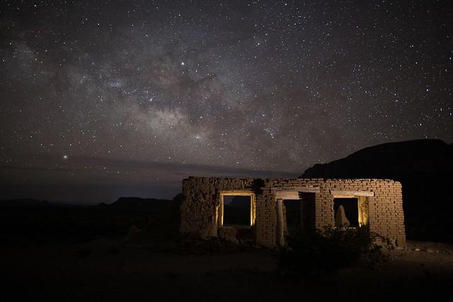Milky Way Over Ruins