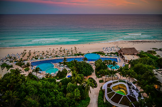 Morning view from Live Aqua Resort Cancun Mexico | by mbell1975