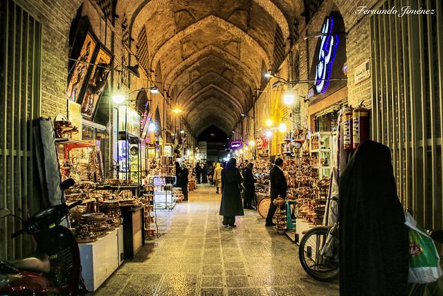 Tranquilidad en el bazar (Isfahán-Irán)