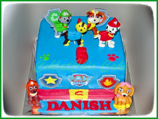 Cake paw patrol DANISH 20 cm   by KevnCealMom