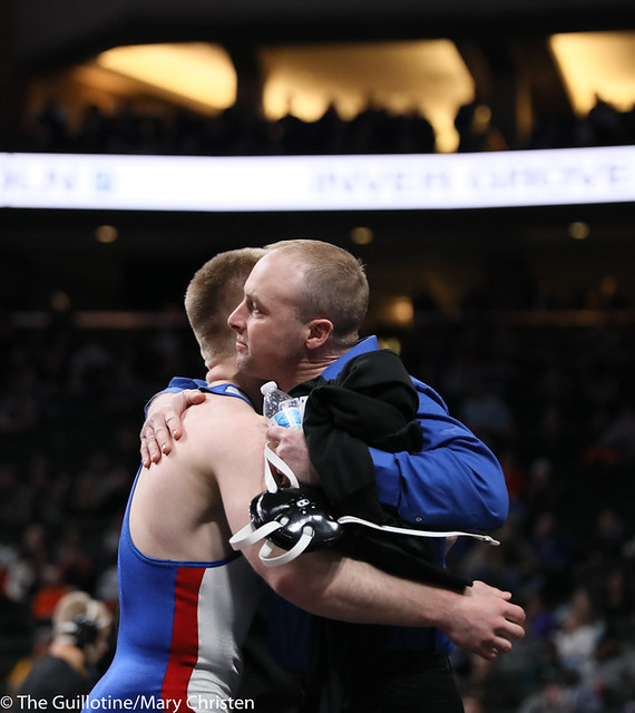 182AA 1st Place Match - Patrick Kennedy (Kasson-Mantorville) 46-0 won by fall over Zachary Peterson (Perham) 50-2 (Fall 1:54) - 190302BMC4995