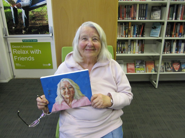 Portrait demonstarion at Kingsbridge Library by local artist John Weston