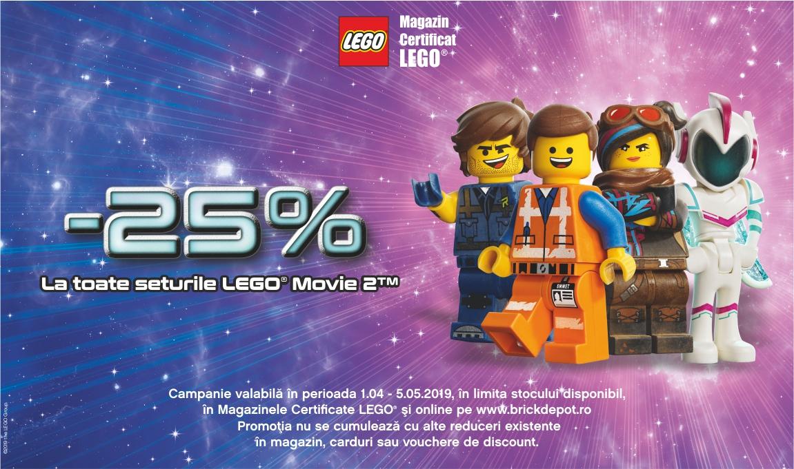 25% reducere la toate seturile LEGO® Movie 2