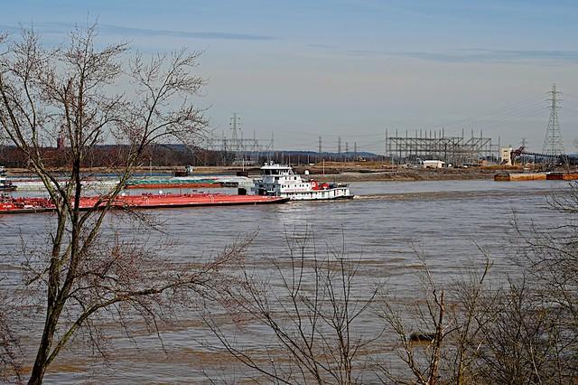 Busy scene on Ohio River