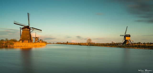 Sunset with The Big Stopper in Kinderdijk