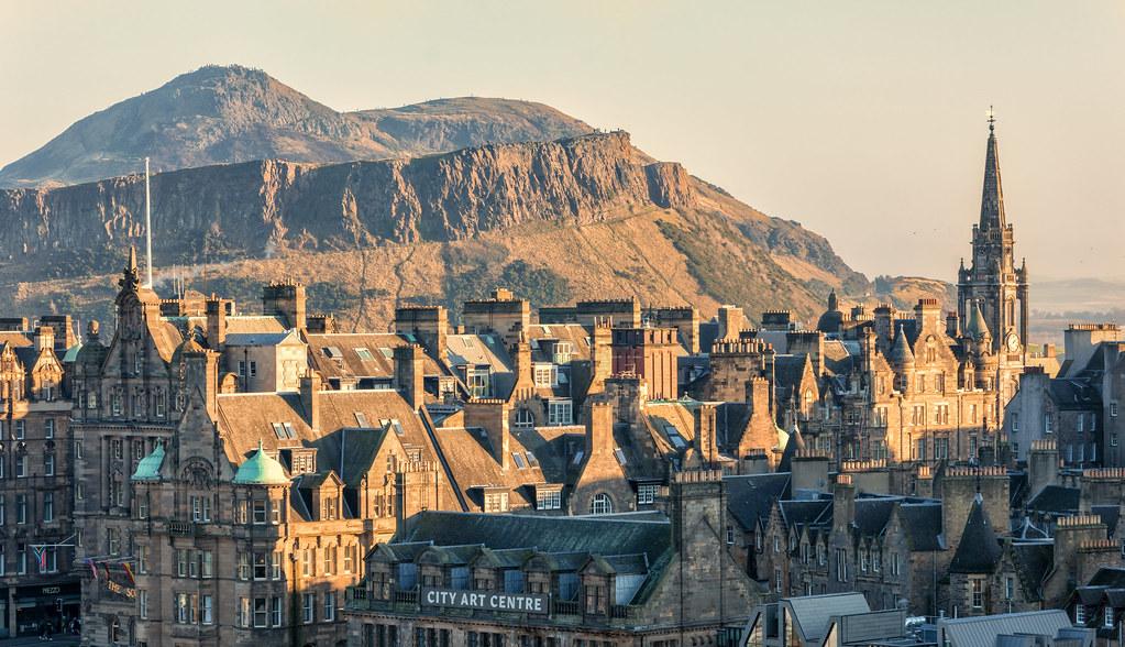 Old Town and Arthur's Seat, Edinburgh, Scotland