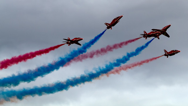 RAF Red Arrows Hawker Siddeley Hawks