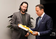Reunião com o ator norte-americano Keanu Reeves