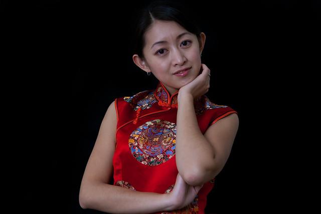 Mei in Red QiPao