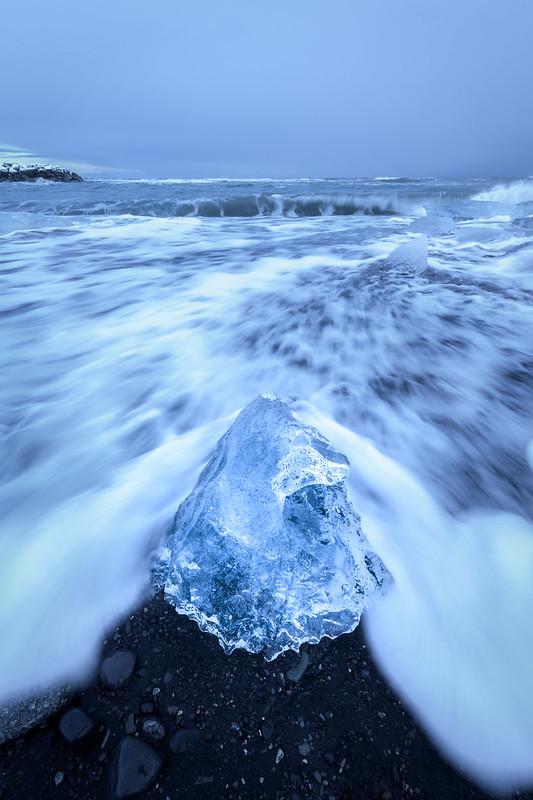 Photo ninja à Diamond Beach, avant de se faire rattraper par une vague