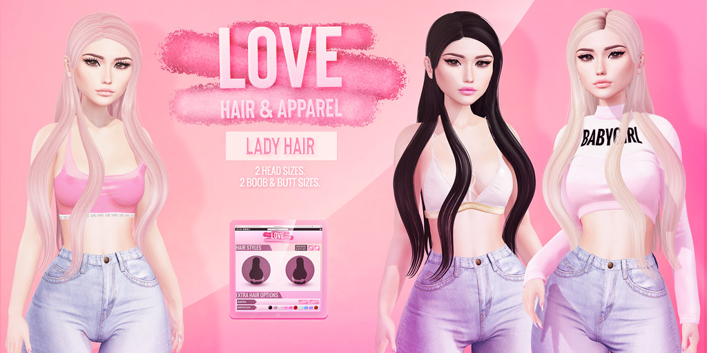 Love [Lady] Hair @ The Galleria! - TeleportHub.com Live!