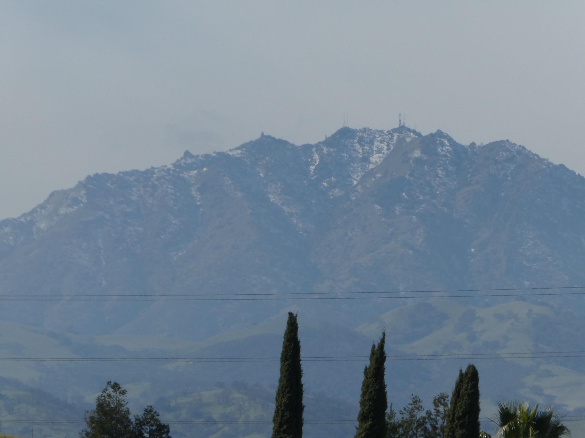 2019–02–07- Landscape Photography - Snow on Mount Diablo