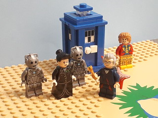 12th doctor and his TARDIS in Lego