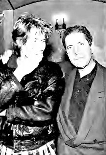 Leonard Cohen meets Richard Butler backstage at the Beacon 1988