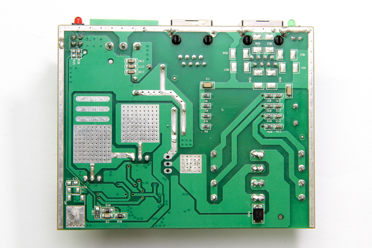 PCB, under side