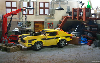1972 Mustang Mach 1 hot rod in the workshop   by _Pixeljunkie_