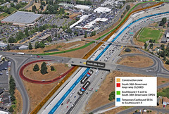 Eastbound SR 16 to southbound I-5 traffic shift during 7 day closure of eastbound S. 38th Street loop ramp