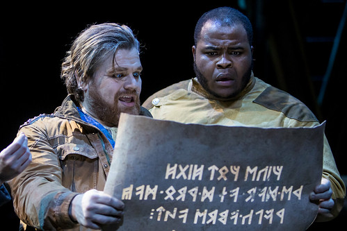 Reed Sigmund and H. Adam Harris in 'The Hobbit'. From The Hobbit Onstage: A Magical World Premiere at Children's Theatre Company