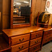 Solid wood 6 dwr chest E225 mirror inc