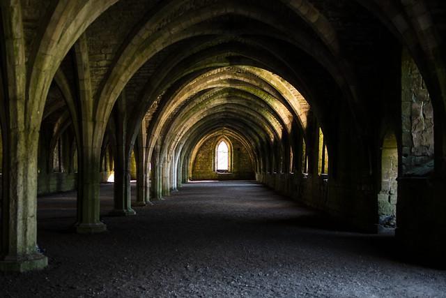 Cellars--Fountains Abbey