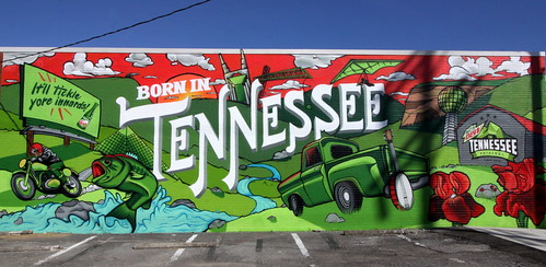 Mountain Dew: Born in Tennessee Mural